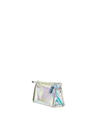 Bagmori  Kadın Hologram Şeffaf Makyaj Çantası M000006247 Gümüş